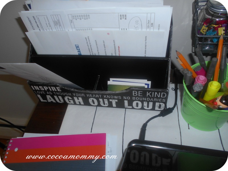 DIY Office Space Filing -To Do-Bills-MailHomeGoods