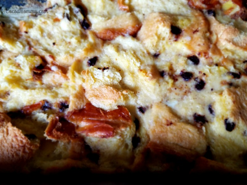 Brioche Chocolate Chip Bread And Butter Pudding